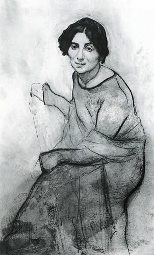 serov, valentin - Portrait of the Pianist Wanda Landowska