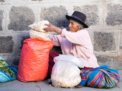 ..City of Ayacucho and Pop-corn...Peru
