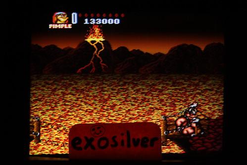 Battletoads in Battlemaniacs 133,000 points (SNES/Super Famicom) by exosilver [Score #51952]