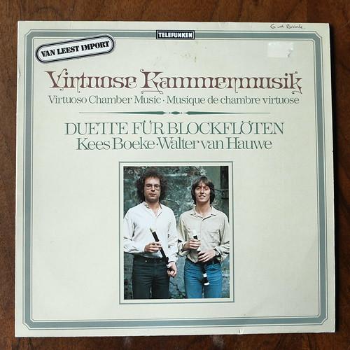 T.Morley, Telemann, JJ.van Eyck, JM.Hotteterre - Virtuose Kammermusik, Virtuoso Chamber Music - Duette fur Blockfloten - Kees Boeke & Walter van Hauwe (Members Quadro Hotteterre), Telefunken 6.42522 AP, 1980