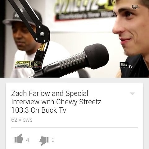 Check out the @zach_farlow & #special interview now filmed by @bucktv #streetz1033clt #wedaplugggg