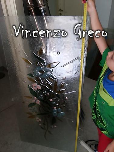 Vetrate per porte vetrofusione floreale di Vincenzo Greco (6)