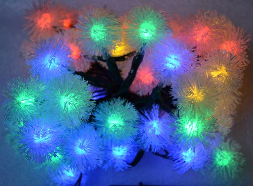 Samyo Chuzzle Solar LED Lights Fairy String for Outdoor Gardens Homes Christmas Lighting Party – 5M 50 Led (Multi-color)