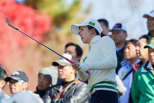 Katone Hori of Japan during the Friday foursomes