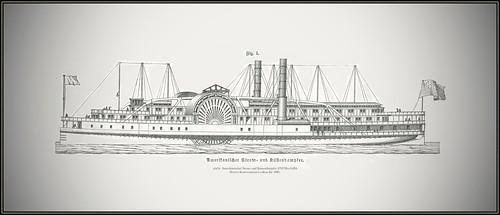 s0478 Fig. 1 Amerikanischer Strom- und Küstendampfer 4705 MeyA4B4  Meyers Konversations-Lexikon Jhr 1886.