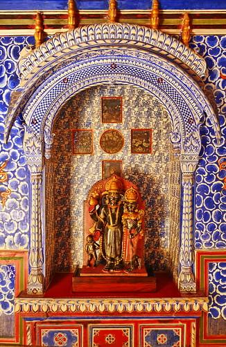 India - Rajasthan - Bikaner - Junagarh Fort - Cloud Palace - Badal Mahal - Krishna and Radha - 52