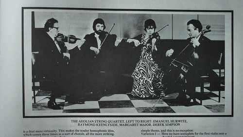 The Aeolian String Quartet (Emanuel Hurwitz, Raymond Keenlyside, Margaret Major, Derek Simpson)