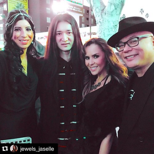 Red carpet ready at the Hollywood Music In Media Awards with these fine peeps! ❤️ #Repost @jewels_jaselle with @repostapp. ・・・ #hmma #hollywood #music #media #awards #jewelsjaselle @katiegaribaldi @kento_masuda @dedward007 #nominees