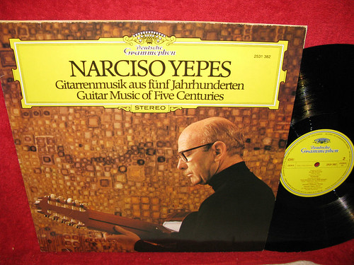 DG 2531 382 STEREO GERMAN NARCISO YEPES GUITAR MUSIC OF FIVE CENTURIES NM