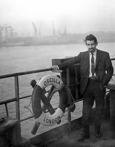 Me on board the Dutch Shell tanker Oscilla which is anchored in the river Mersey[32] Saturday 26.01.1963