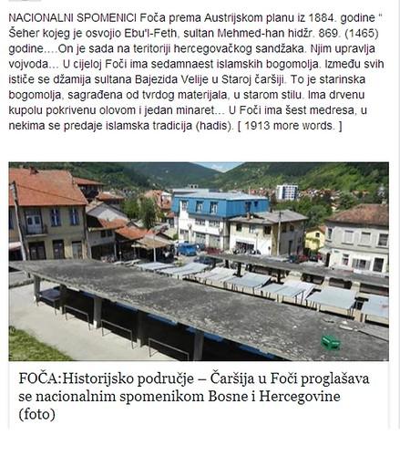 FOČA:Historijsko područje – Čaršija u Foči proglašava se nacionalnim spomenikom Bosne i Hercegovine (foto)
