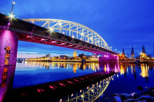 Water under a troubled bridge, Arnhem The Netherlands