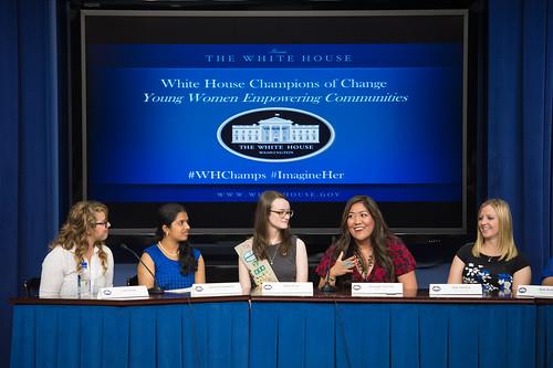 Astronaut Serena Auñón at Champions of Change (NHQ201509150028)