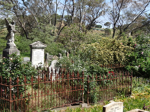 Penwortham.  The Anglican Church cemetery. Church started in 1850 with a state government glebe lands grant of 20 acres.