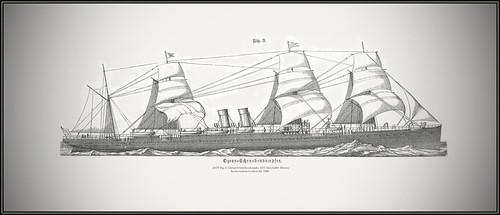s0479 Fig. 3. Ozean-Schraubendampfer 4707 MeyA4B4  Meyers Konversations-Lexikon Jhr 1886.