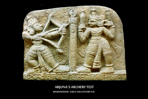 India - Odisha - Bhubaneswar - Odisha State Museum - Arjuna´s Archery Test