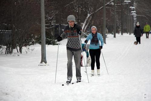 Urban skiers