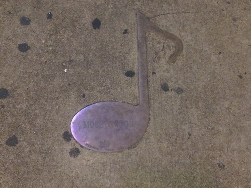 Mose Vinson, Memphis Tennessee Musical Note Embedded in Beale Street Sidewalk