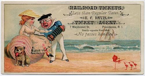 E. C. Davis, Ticket Agent, Providence, Rhode Island