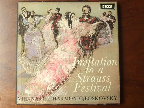 Invitation to a Strauss Festival - Wiener Vienna Phil., Willy Boskovsky, Decca LXT 6242-4 (Box 4Lp)