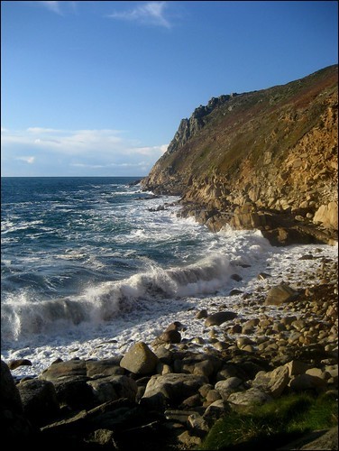 The north Cornish coast near St Just