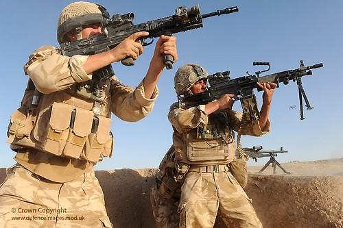 Soldiers Engage the Taliban in Afghanistan