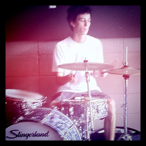 The Young Larry Boothroyd on Maui drums