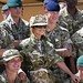 Singer Celebrity Cheryl Cole Trains with British Troops in Afghanistan