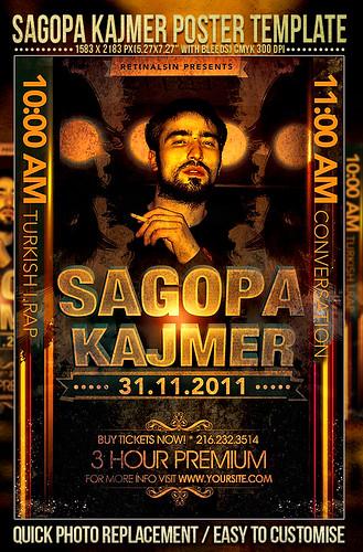 PSD Sagopa Kajmer Poster Template