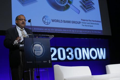 Nagaraja Rao Harshadeep speaking at the Social Good Summit 2015