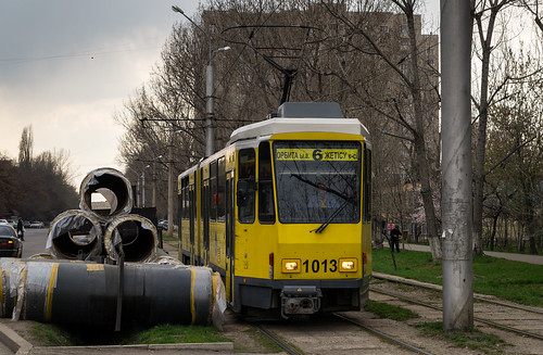 Almaty tramway (closed): slipping through the tubes