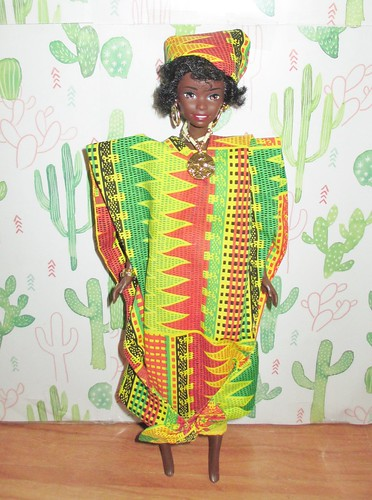 1996 Dolls of the World Collection Ghanian Barbie