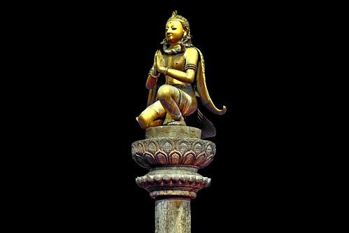 Nepal - Patan - Durbar Square - Garuda Column - 228d