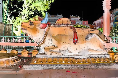 Nepal - Patan - Temple - Nandi - 157g