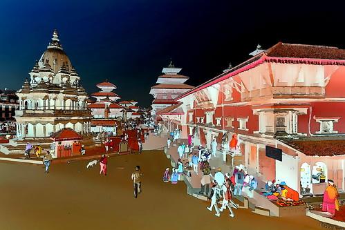 Nepal - Patan - Durbar Square - 68g