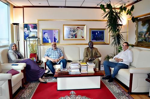 Beautiful Picture of Mohamed Dekkak, Mustapha Bojang, Habib Ghanim and Safia Ghanim during their visit in Adgeco Group Abu Dhabi UAE