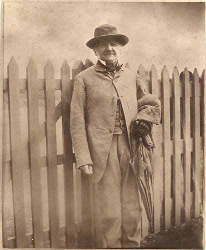 Mr Gladstone [at Hawarden Station?], c.1890s (ref: PH/28A/36).
