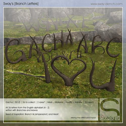 Sway's [Branch Letters] Gacha Garden