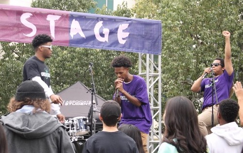 The Yung Men performing their album The Greenhouse Project at the Luna Stage in Sol Fest. 4/27/2019