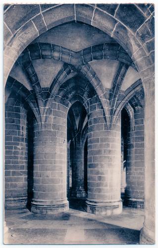 Le Mont-Saint-Michel - l'Abbaye - la Crypte des Gros Piliers Prior to 1931