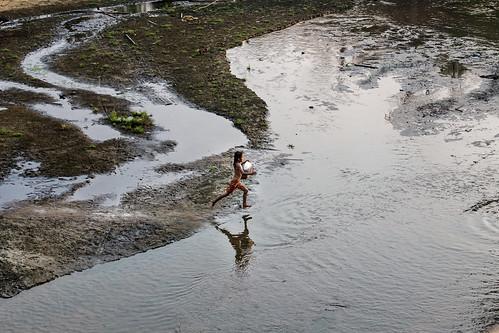 流經緬甸勃固山脈(Bago Yoma)的河流「Kha Paung」正逐漸乾涸中。圖片來源:Minzayar Oo / WWF-US