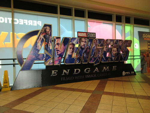 Avengers Endgame Theater Lobby Standee NYC 7939
