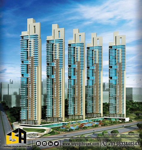 A-view-of-ATS-project-is-designed-by-Ar-Suyog-Chavan-with-Architect-Hafeez-Contractor's-team-at-NOIDA-Yamuna-expressway