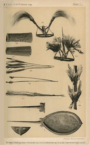 Zuidwest Nieuw-Guinea Expeditie 1904-1905 Ethnografica Plaat I