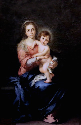 IMG_9326A Bartolome Esteban Murillo. 1618-1682. Séville Vierge à l'Enfant. Virgin and Child. Florence. Palazzo Pitti. Galleria Palatina.