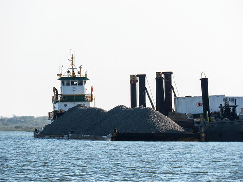 Day 3, tug and heavy load, Aransas Bay