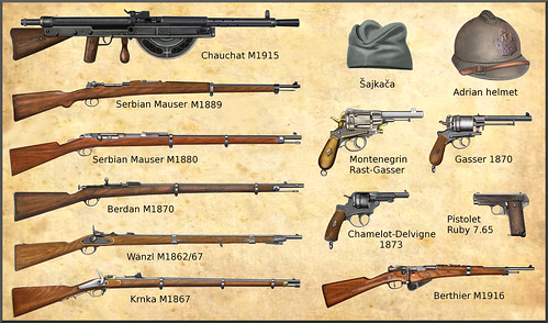 WW1 Serbian and Montenegrin Weapons