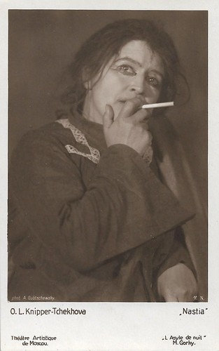 Olga Knipper-Chekhova as Nastia in Gorky's The Lower Depths, Moscow Art Theatre