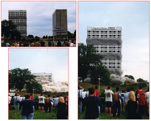 57  Thionville & Jean Dubuisson l'architecte - Moselle - Aux HLM L'ex  Residence Cormontaigne -1966 et mars 1998 @ sud-est deminage.