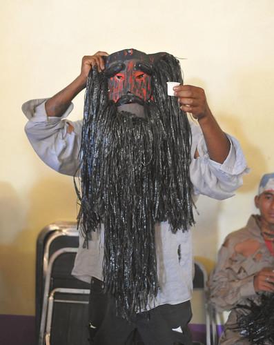 Masked Dancer Rio Grande Oaxaca Mexico